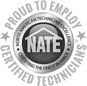 NATE certified tech badge